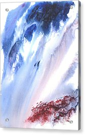 Waterfall Acrylic Print by Mui-Joo Wee