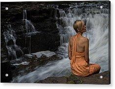 Waterfall Muse Acrylic Print by Tim Beebe