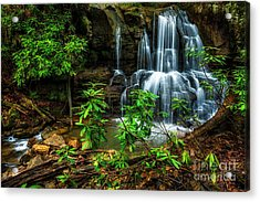 Acrylic Print featuring the photograph Waterfall On Back Fork by Thomas R Fletcher