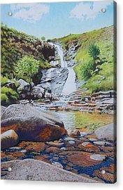 Waterfall On Skye 2 Acrylic Print