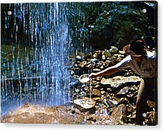 Acrylic Print featuring the photograph Waterfall Panner by Lori Miller