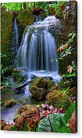 Waterfall Acrylic Print by Patti Sullivan Schmidt