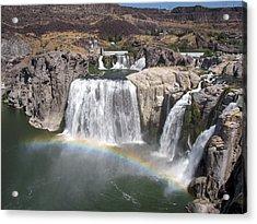 Waterfall Rainbow Acrylic Print by Ty Nichols
