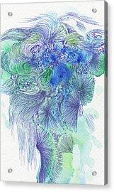 Waterfall - #ss16dw044 Acrylic Print by Satomi Sugimoto