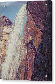 Waterfall Acrylic Print by Suzanne  Marie Leclair