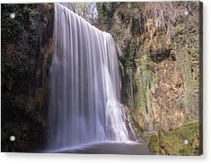 Waterfall With The Silk Effect Acrylic Print