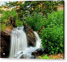 Waterfalls Above Dream Lake Acrylic Print