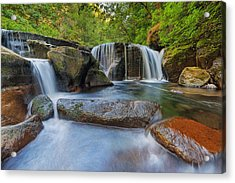 Waterfalls At Sweet Creek Falls Trail Acrylic Print