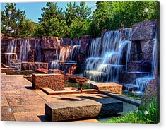 Waterfalls Fdr Memorial Acrylic Print