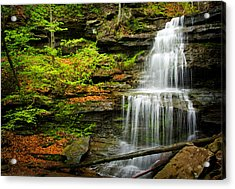 Waterfalls On Little Three Mile Run Acrylic Print