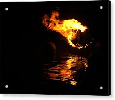 Waterfire 2007-1 Acrylic Print by Nancy Ferrier