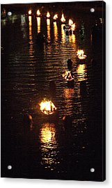 Waterfire Lights Acrylic Print