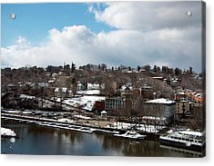 Waterfront After The Storm Acrylic Print by Jeff Severson