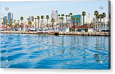 Waterfront Parallels Acrylic Print by Adam Pender