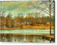 Waterfront Property - Lake Landscape Acrylic Print by Barry Jones