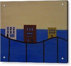 Waterfront Property Acrylic Print by Sandy Bostelman