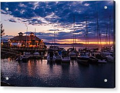 Waterfront Summer Sunset Acrylic Print