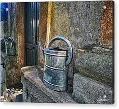 Watering Cans Acrylic Print by Diana Haronis