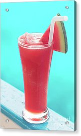 Acrylic Print featuring the photograph Waterlemon Smoothie by Atiketta Sangasaeng