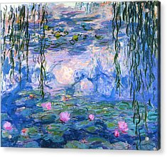 Waterlilies 1919  Acrylic Print by Claude Monet