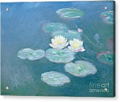 Waterlilies Evening Acrylic Print by Claude Monet