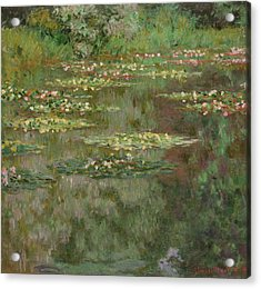 Waterlilies Or The Water Lily Pond Acrylic Print