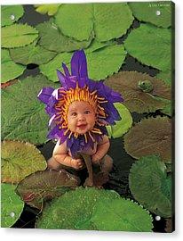 Waterlily Acrylic Print by Anne Geddes