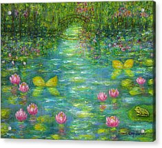 Waterlily Butterflies Acrylic Print