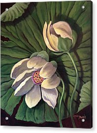 Waterlily Like A Clock Acrylic Print