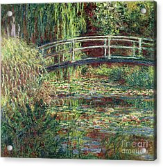 Waterlily Pond Pink Harmony 1900 Acrylic Print by Claude Monet