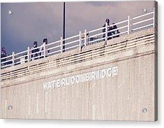 Acrylic Print featuring the photograph Waterloo Bridge by Rasma Bertz