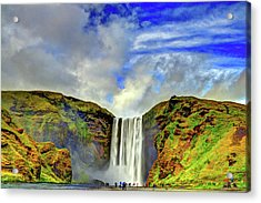 Acrylic Print featuring the photograph Watermall And Mist by Scott Mahon