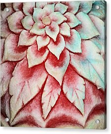 Acrylic Print featuring the photograph Watermelon Carving by Kristin Elmquist