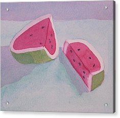 Watermelon Acrylic Print by Charlotte Hickcox