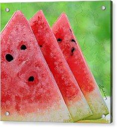 Watermelon Slices Acrylic Print