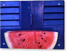 Watermelon Acrylic Print by Steve Outram