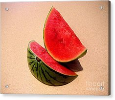 Watermelon Study Acrylic Print by Lucyna A M Green