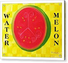 Watermelon Time Acrylic Print by Nathan Rodholm