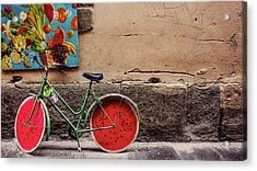 Watermelon Wheels Acrylic Print by Happy Home Artistry