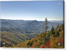 Waterrock Knob On Blue Ridge Parkway Acrylic Print by Darrell Young