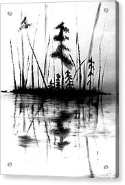 Acrylic Print featuring the painting Waters Edge by Denise Tomasura
