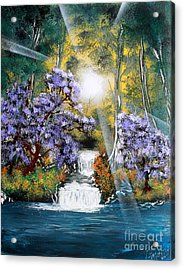 Acrylic Print featuring the painting Waters Edge by Greg Moores
