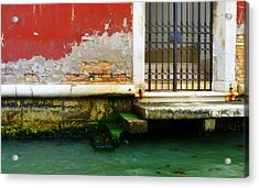 Water's Edge In Venice Acrylic Print