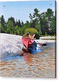 Acrylic Print featuring the painting Waters Edge by Kenneth M Kirsch