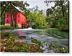 Waters Of Alley Spring Mill  Acrylic Print by Gregory Ballos