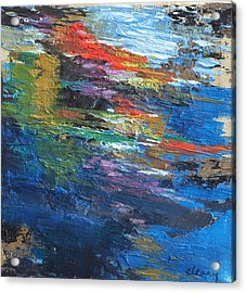Water's Poetry  No. 4 Acrylic Print by Melody Cleary