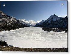 Waterton In Winter Acrylic Print
