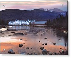 Waterville Valley Sunset Acrylic Print by Nancy Griswold