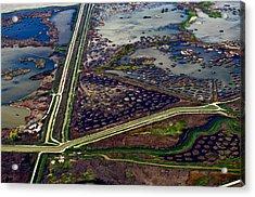 Waterways9 Acrylic Print by Sylvan Adams