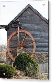 Waterwheel Of Old Acrylic Print by Linda A Waterhouse